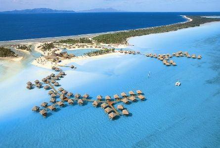 Vista panoramica de Bora Bora