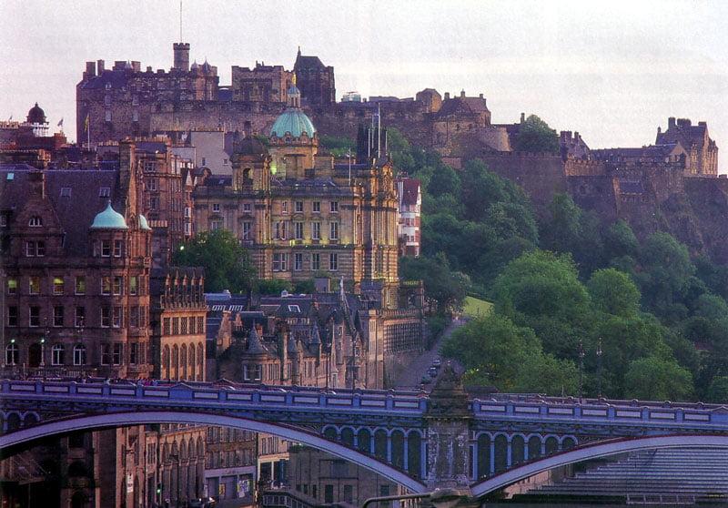 Vista panoramica de Edimburgo