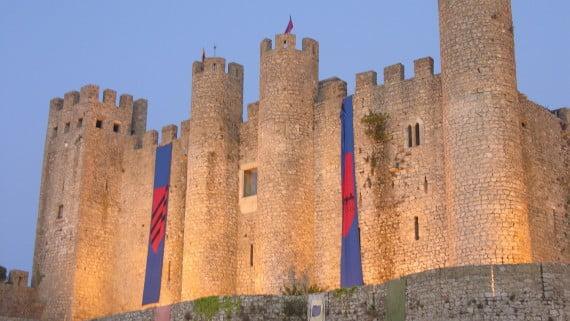 Vistas del Castillo de Óbidos, Portugal