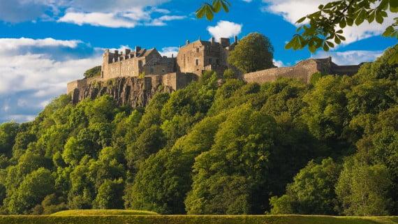 Vistas del Castillo de Stirling, Escocia, Reino Unido