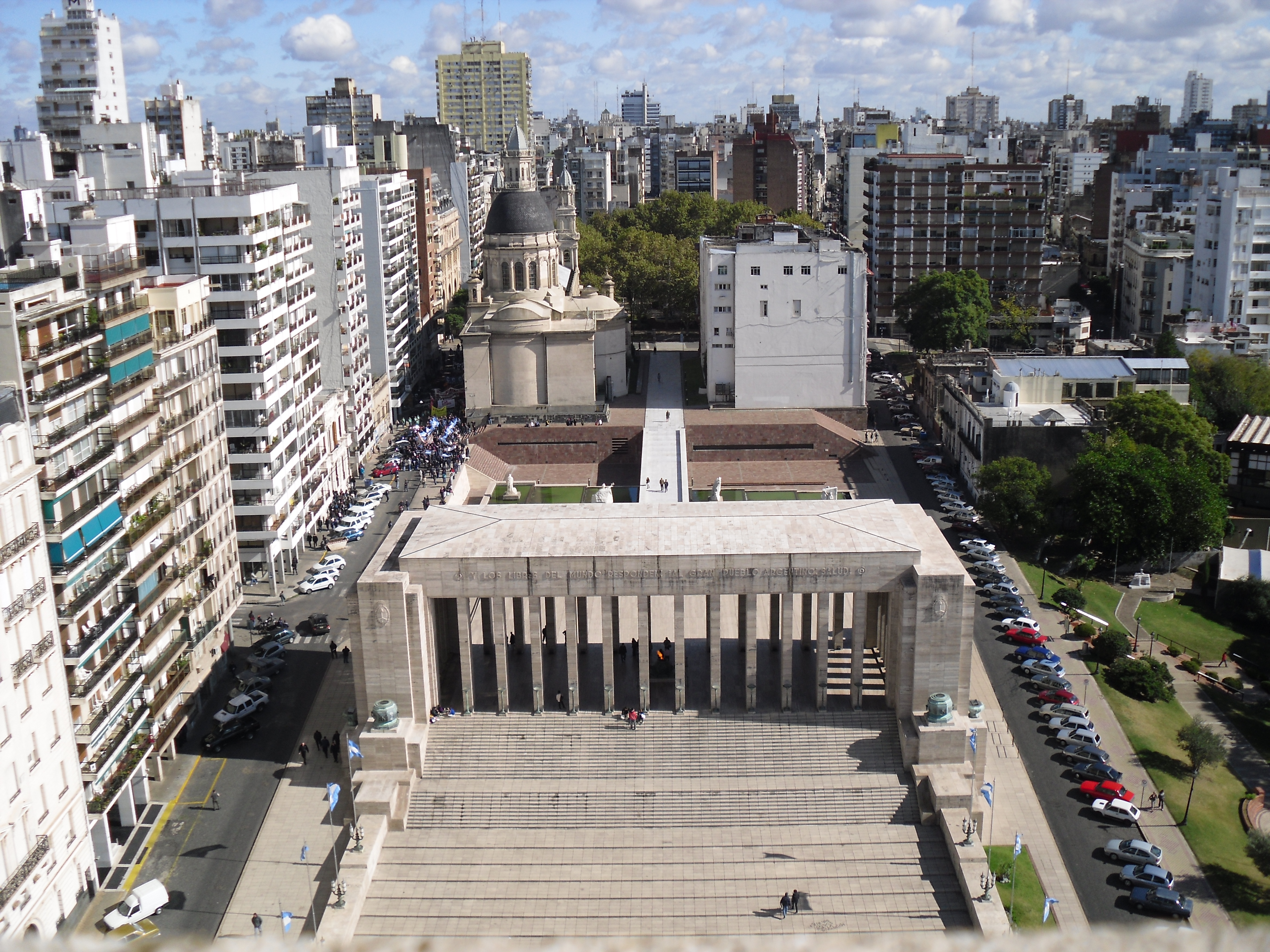 Vistas desde el mirador del Monumento a la Bandera - Rosario