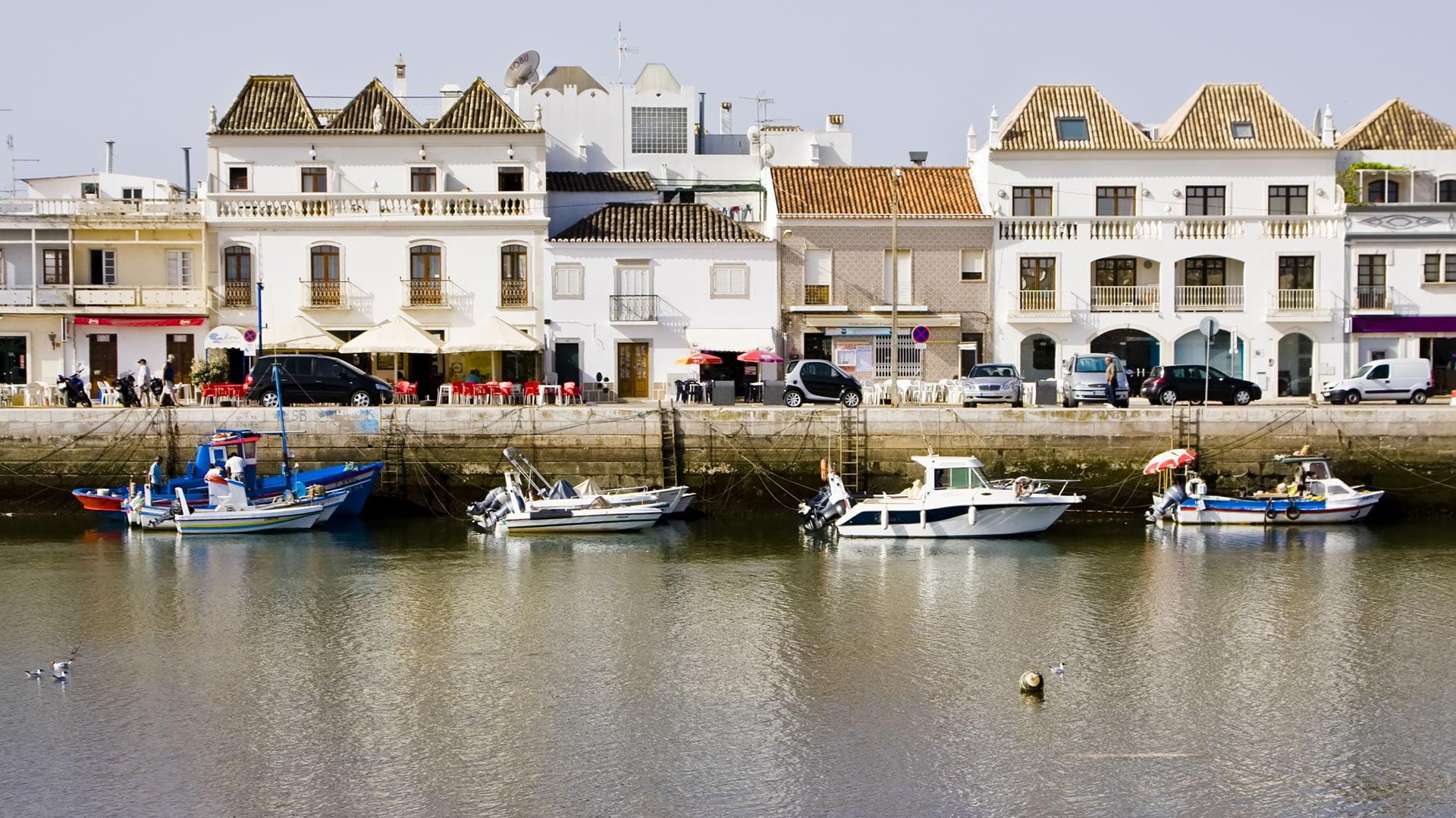 Vistas típicas de Tavira, Portugal
