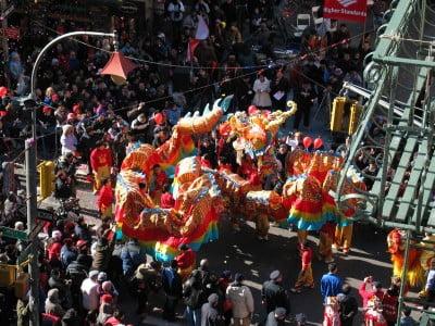 Año Nuevo en Chinatown Nueva York