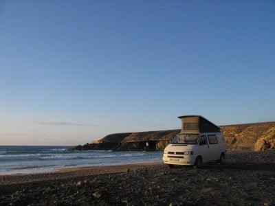 Acampada en Fuerteventura