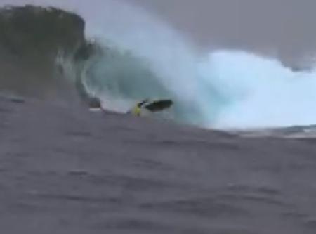 accidentes de surf cayendo de la tabla