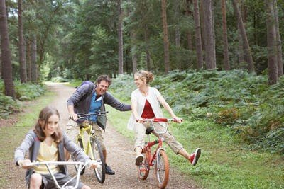 actividades al aire libre salir en bicicleta