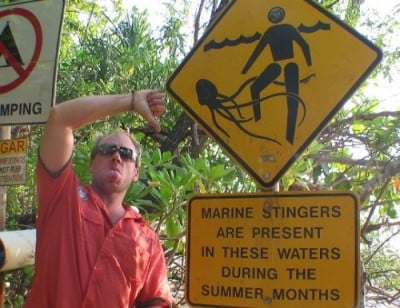 Advertencia de medusas en Cairns