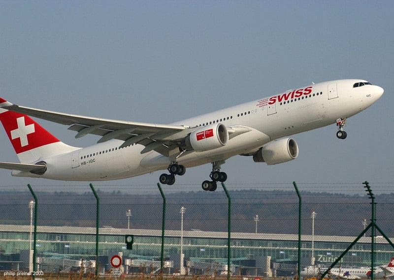 Aerolínea de Suiza
