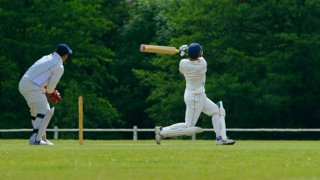 Afición al críquet en Inglaterra