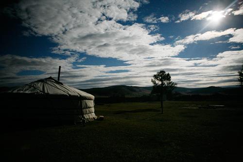 Anochecer en Mongolia