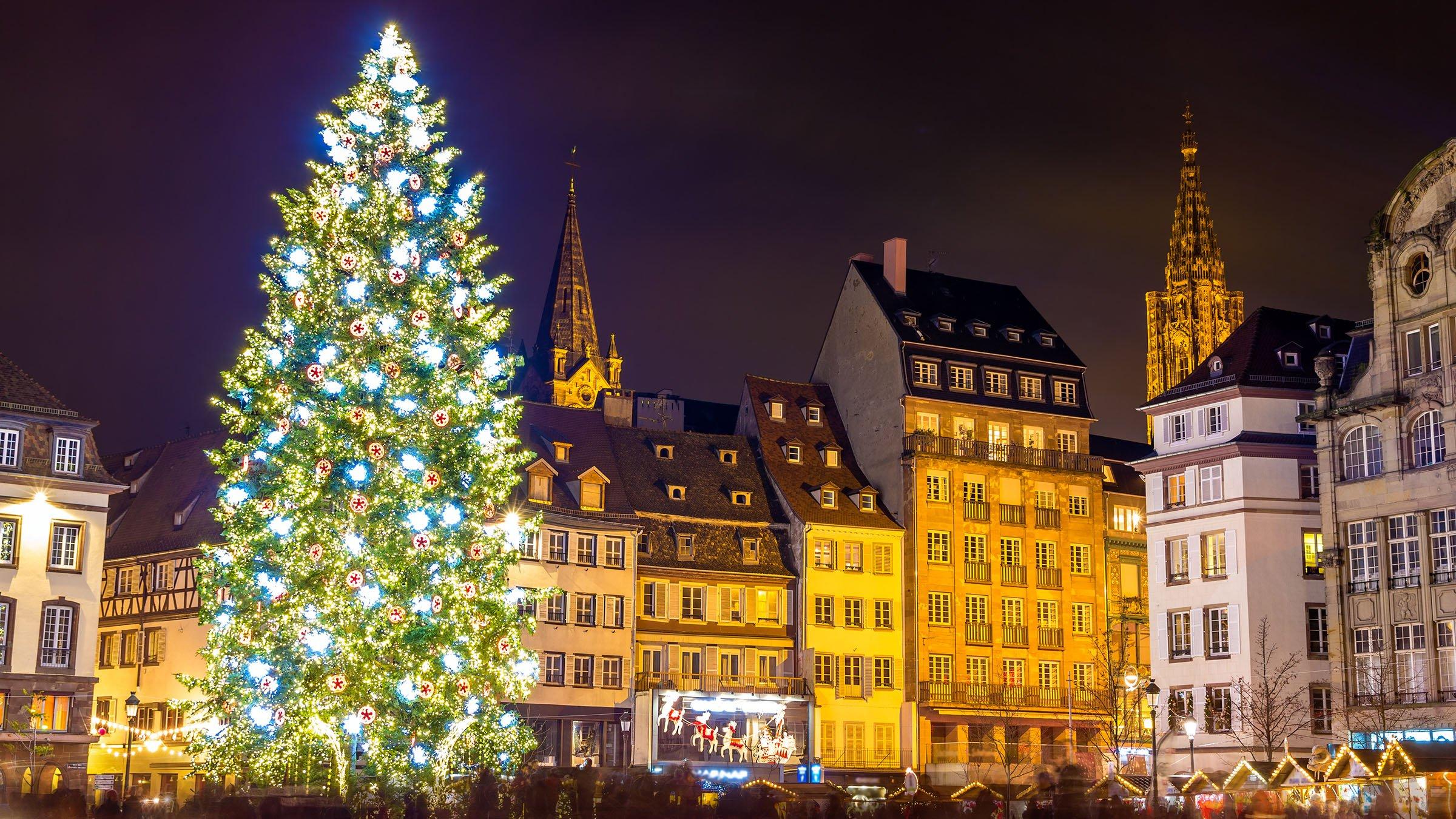 Árbol de Navidad en Estrasburgo, Francia