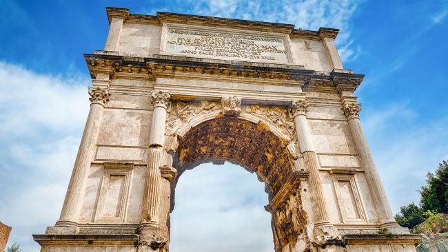 Arco de Tito, en el Foro Romano