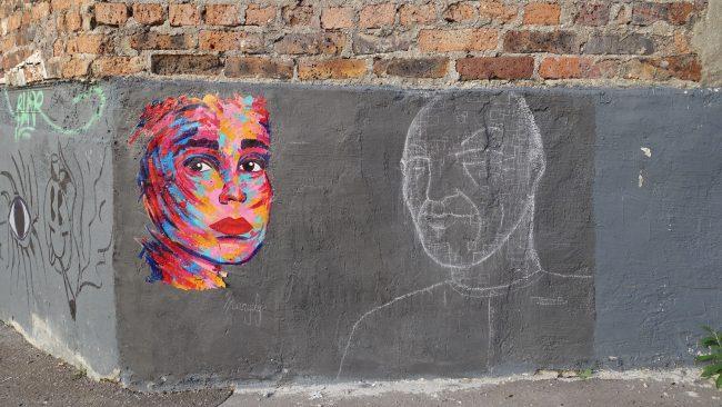 Arte callejero en el barrio alternativo Butte aux Cailles de París