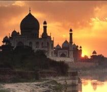 Foto del Atardecer en el Taj Mahal, India