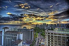 Atardecer en Waikiki