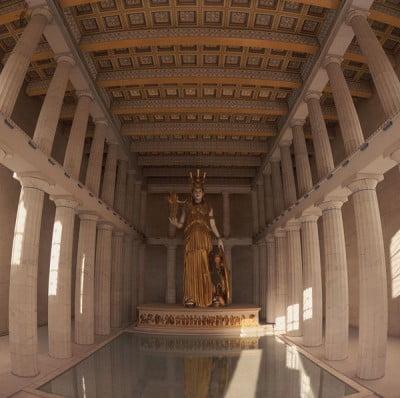 Atenea en el Partenón