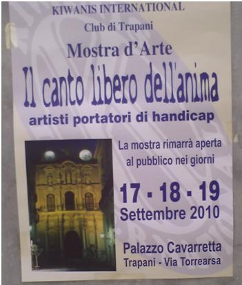 Cartel de la celebración de una exposición