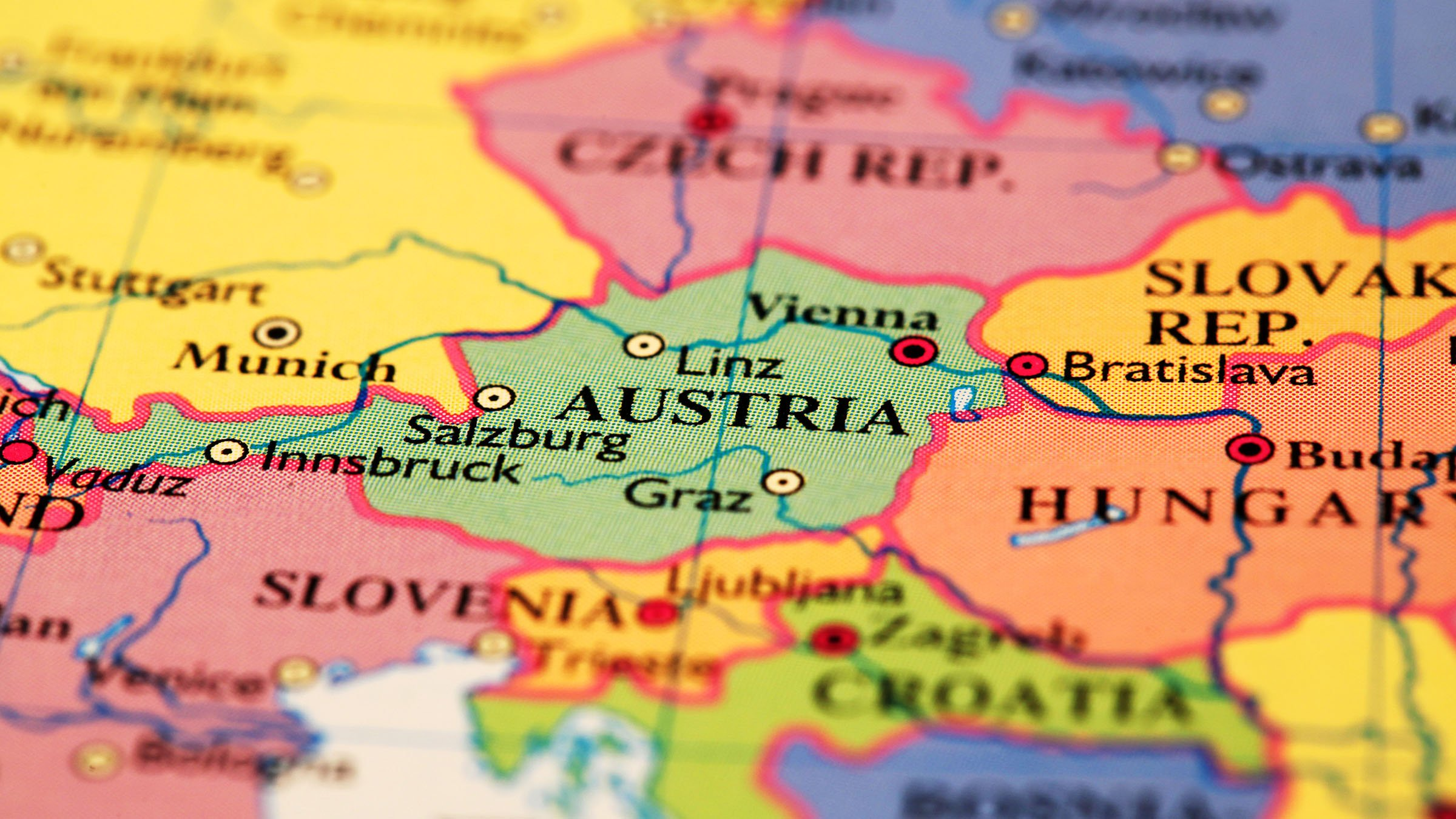 Mapa Politico De Austria.Mapa Politico Austria