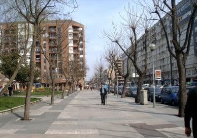 Avenida de Gasteiz en Vitoria