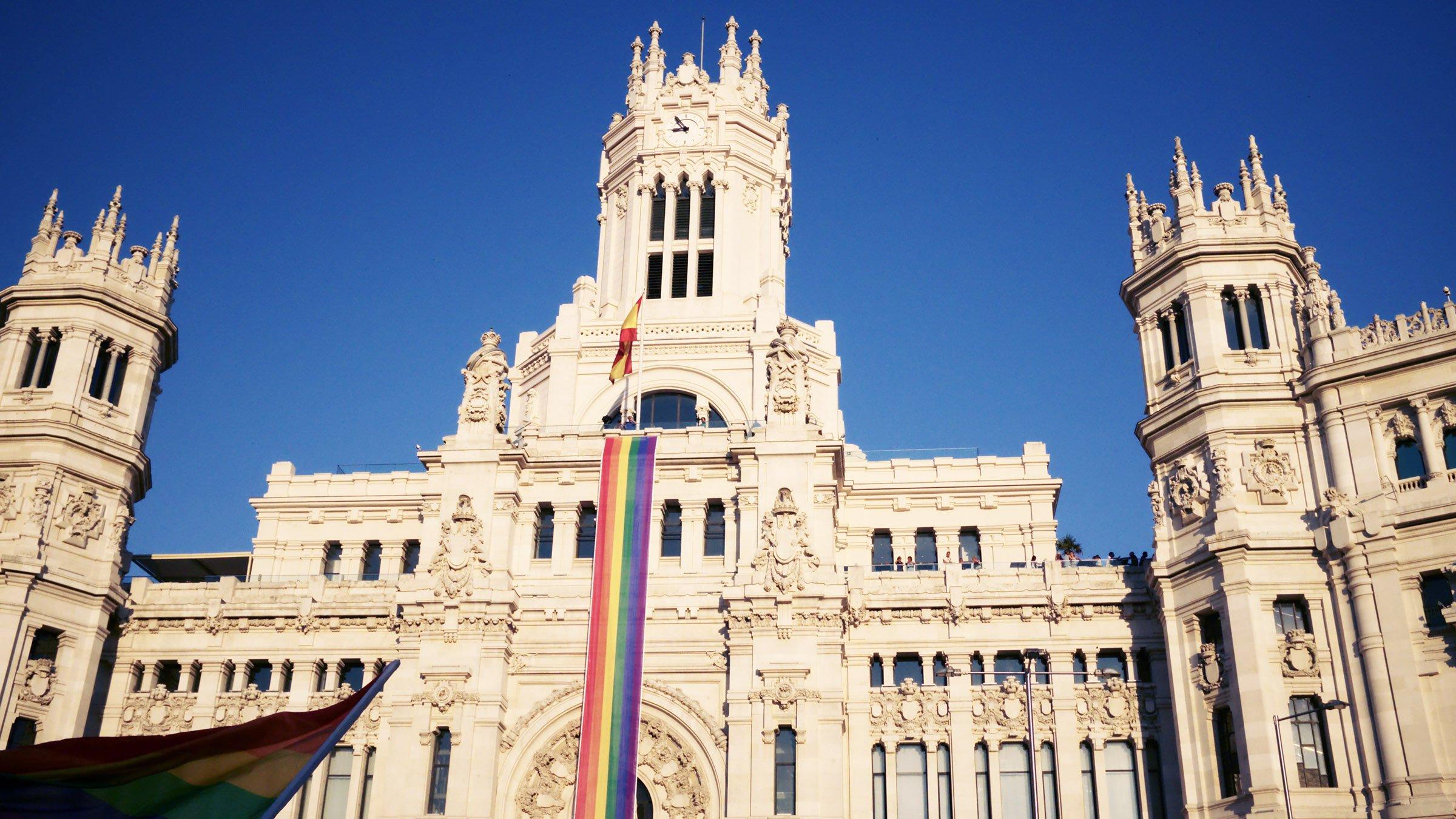 Bandera americana del orgullo gay