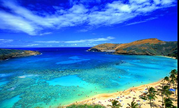 Bahia de Hanauma en Oahu, Hawai