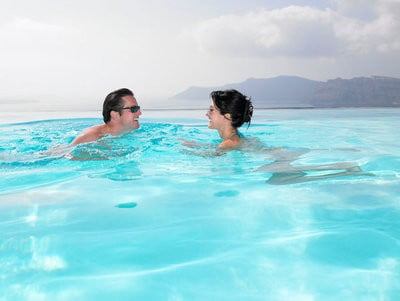 balnearios de Cataluña en el agua