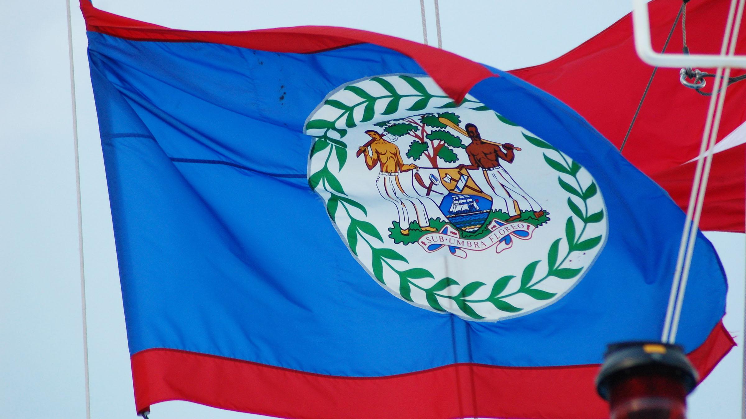 bandera de Belice el escudo