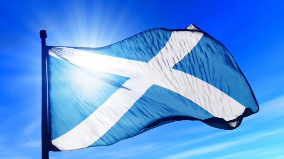 Cruz de San Andrés o Bandera de Escocia