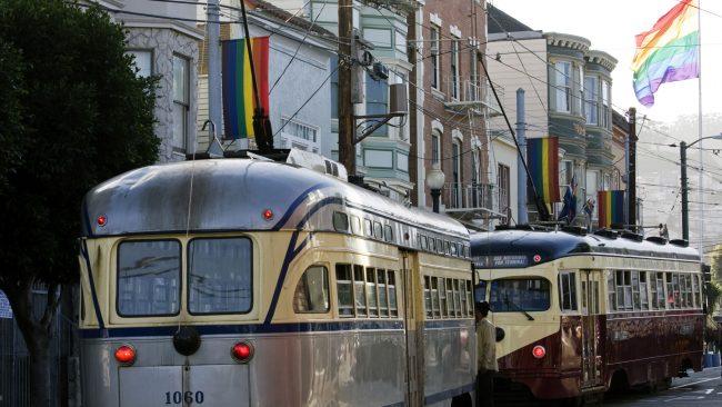 Bandeira gay en San Francisco, California