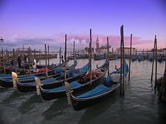 Barcas tradicionales de Venecia