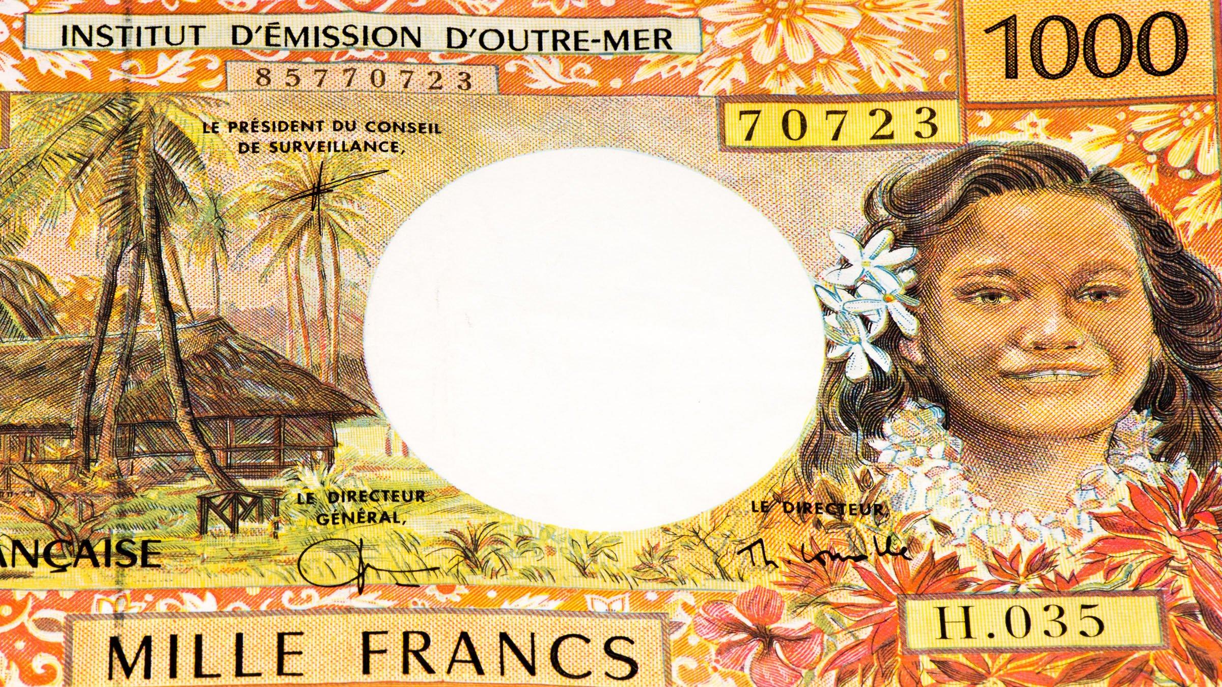 Billete de 1000 francos