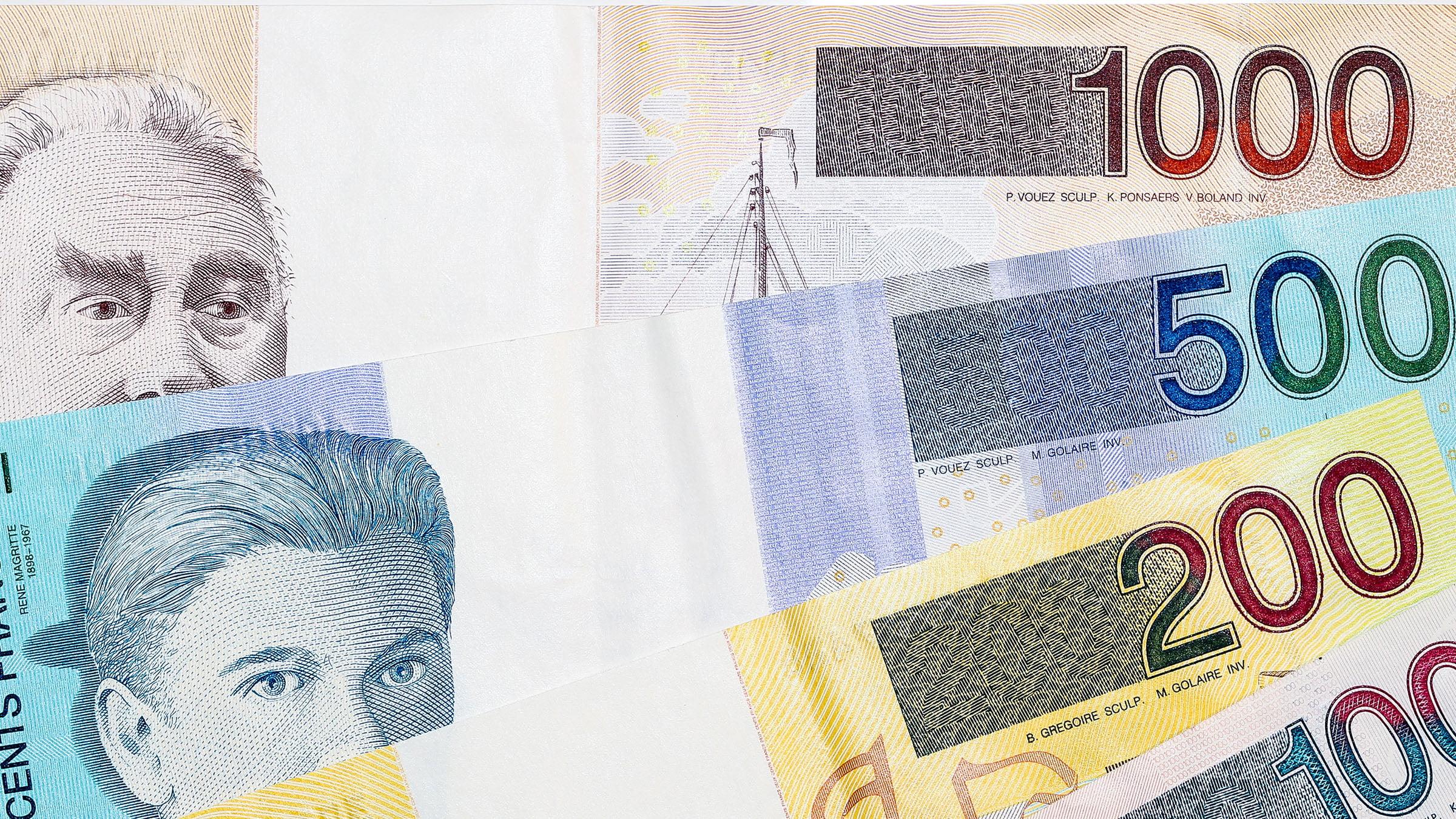 Billete de Bélgica