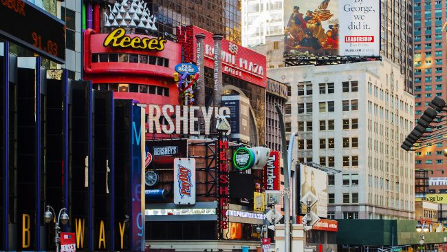 Broadway, avenida de Nueva York situada en Manhattan
