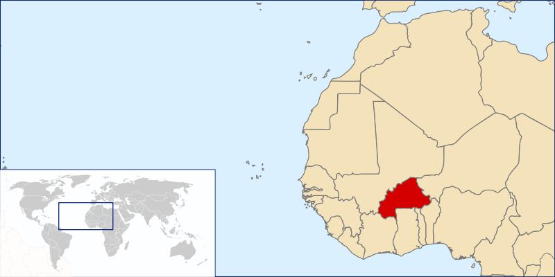 Burkina Faso, Mapa