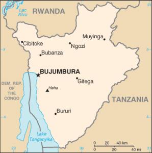 bBurundi, mapa fronteras