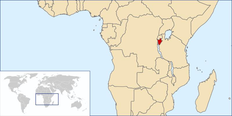 Burundi, mapa