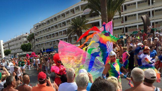 Desfile do orgullo gay Maspalomas