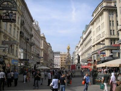 Calle Graben en Viena