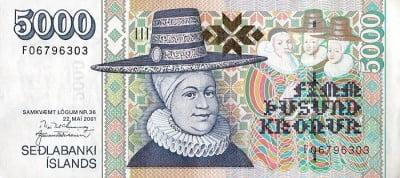 Cambio de corona islandesa