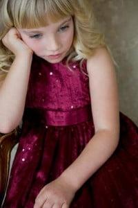caritas tristes de niña