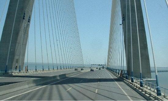 Carretera del Vasco De Gama en Lisboa