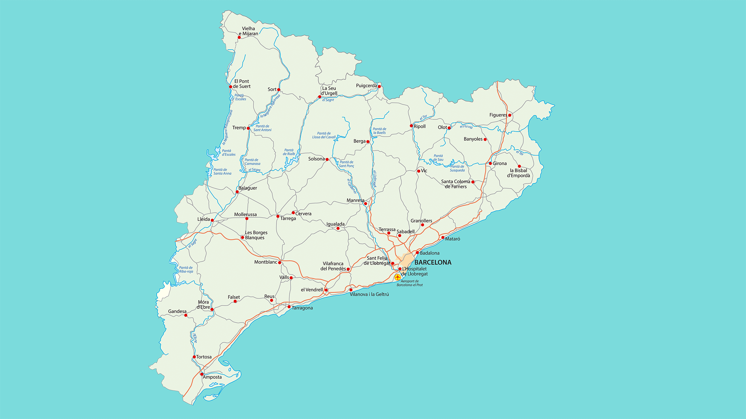 Cartina Catalogna.Cartina Stradale Di A Catalogna