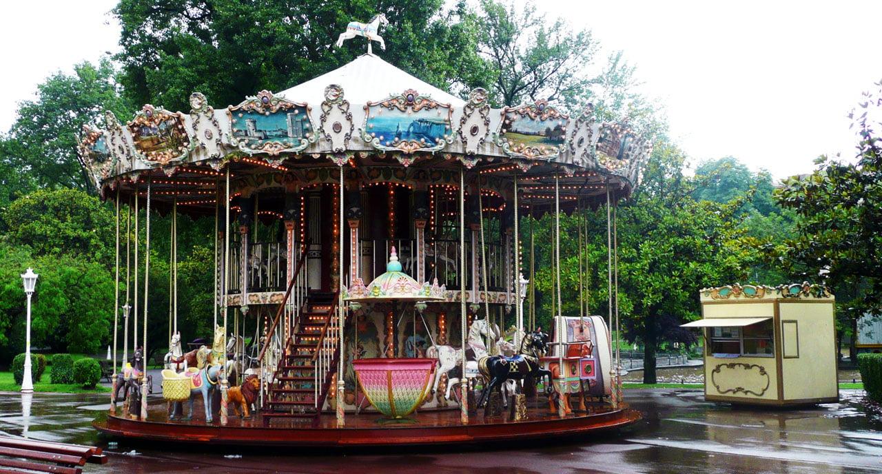 Carrusel de parque de Bilbao