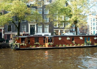 Casa flotante de Ámsterdam