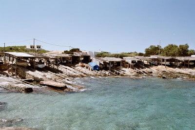 Casetas de pescadores de Formentera