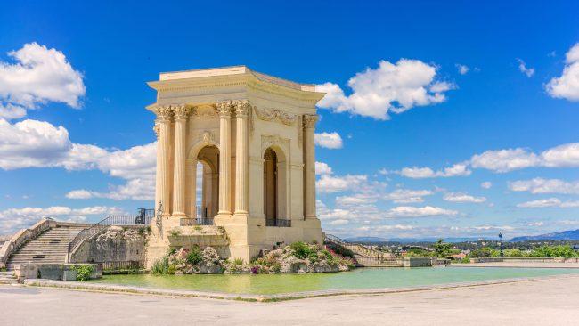 Castillo de agua de Montpellier, Francia