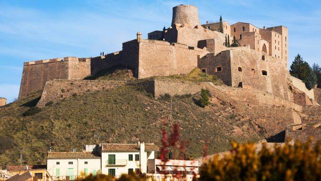 Castillo de Cardona en la comarca del Bages, Cataluña