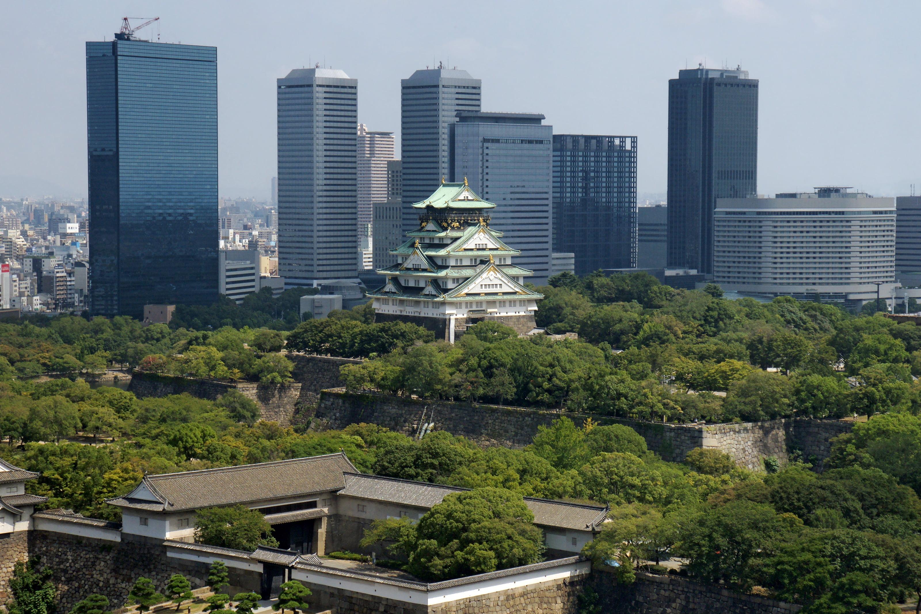 Castillo de Osaka en Japón