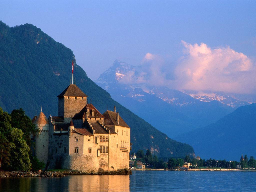 Castillos Chillon, Suiza
