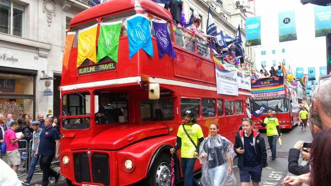 Celebración do orgullo LGBT en Londres